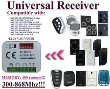Receiver Compatible with FAAC 433,92Mhz - 868,3Mhz remote controls and receivers