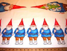 Fabric Miller GNOMES Panel  LARGE AND SMALL
