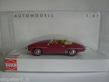 Busch 9838893, MB 190 SL, Cabrio offen Bj. 1955, Rot, H0 Auto Modell 1:87