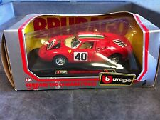 Bburago 1:24 Scale 1965 FERRARI 250 LE MANS (RED) #40