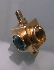 Vintage/Antique 9ct Gold Charm 'Lantern' Garnet,Topaz,Citrine,Sapphire Stones