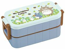 NEW Japan My Neighbor Totoro 2-tier Lunch Box w/Chopsticks Bento school Ghibli