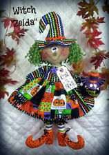 Primitive Raggedy Halloween Witch Pattern #410~ from Ginger Creek Crossing