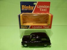 DINKY TOYS 284 LONDON TAXI - BLACK - GOOD CONDITION IN BOX