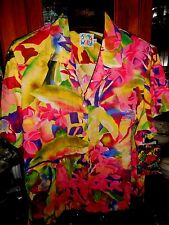 "Jams World FAB women's shirt NEW NWT Hawaiian Paradise Pink Roccoco  M 44"" chest"