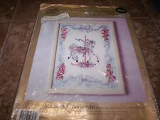 1992 Something Special CAROUSEL HORSE Counted Cross Stitch Kit with Mat & Frame