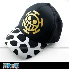 Baseball cap/visor hat with printings of anime One Piece Trafalgar Law's sign!