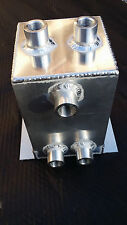 "Fuel Surge Tank 1 Gallon Swirl Pot System Aluminium 1/2"" NPT Port"