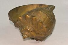 Antique Vintage Brass Conch Shell Planter - LARGE 5.3 lb ~ Beautiful
