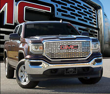 2016 GMC SIERRA 1500 SLT 3PC STAINLESS STEEL Z GRILLE GRILL E&G
