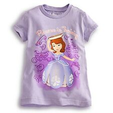 "SOFIA FIRST ""PRINCESS IN TRAINING"" TEE GIRLS SIZE 4 PURPLE GLITTER ACCENTS NWT"