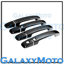 Black Chrome 4 Door Handle+Smart hole no PSG KH Cover for 04-12 Nissan Frontier