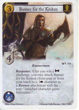 3 x Banner for the Kraken AGoT LCG 1.0 Game of Thrones Calling the Banners 116