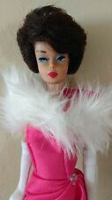 Beautiful Vintage High Color Brunette / Raven Hair Bubble Cut Barbie Doll