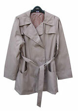 La Redoute Fully Lined Belted Mac Trench Beige Raincoat Jacket Size 14-16