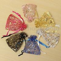 100X Luxury Organza Wedding Party Favor Candy Gift Bags Jewellery Pouch Packing
