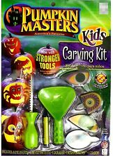 Green Pumpkin Masters Carving Kit - Eye Inserts Saw Scooper - Halloween Party