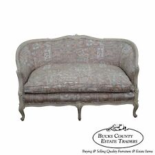 Quality French Louis XV Style Painted Loveseat