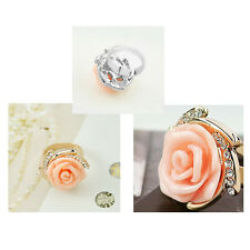 Fashion Lady's Jewelry Rings Crystal Big Rose Flower Women Ring Stylish