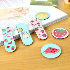 2XFruit Metal Magnetic Bookmarks Note Memo Stationery Book Mark Bookworm Cute SK