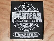 PANTERA - STRONGER THAN ALL (NEW) SEW ON W-PATCH OFFICIAL BAND MERCHANDISE