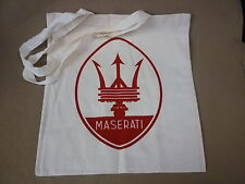 FABULOUS COTTON SHOPPING BAG WITH MASERATI TRIDENT AND 250F PRINTED -