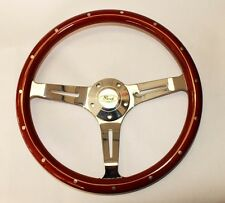 "Bronco F100 F150 F250 F350 Wood Steering Wheel Ford Center Cap 15"" Classic Style"