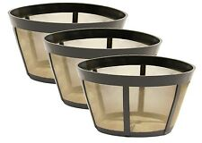 3 PK GoldTone™ Permanent Reusable Basket Coffee Filter Fits BUNN®* Coffee Makers
