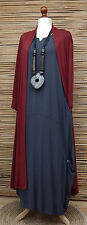 LAGENLOOK AMAZING BOHO SOFT LONG CARDIGAN/COAT*MAROON* SIZE XL BUST 42-44""