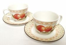 Fruit Sampler Tea Cups and Saucers x 2 - Johnson Brothers