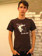 I HAVE GREECE ON MY SHIRT Brown 100% Cotton Size S T-Shirt