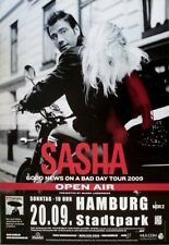 SASHA - 2009 - Konzertplakat - Good News on a Bad Day - Tourposter - Hamburg