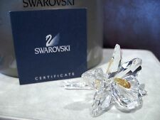Retired SWAROVSKI Crystal LOVELY YELLOW ORCHID by M Stamey COA  NEW