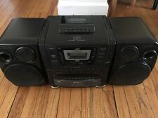 JVC PC-XC60 Portable Boombox Radio 10-Disc CD Player Tape Deck *tested*
