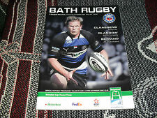 2008 RUGBY UNION PROGRAMME 7/12/08 - BATH v GLASGOW WARRIORS - HEINEKEN CUP