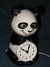 Vintage 1950's panda bear clock with moving eyes