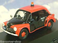 NICE DIECAST 1/43 RENAULT 4CV BERLINE TYPE 1062 MONACO POLICE 1956 RED & BLACK