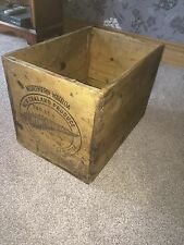 Vintage New Zealand Butter Wooden Crate Nice