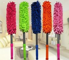 Microfiber Cleaning Duster with EXTENDABLE Telescopic Wall Hanging Handle
