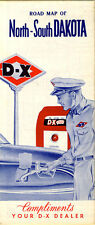 1954 Road Map of North and South Dakota from D-X Gasoline