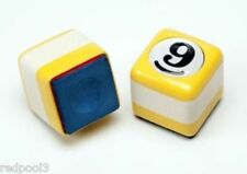 NEW 9Ball - 9 Ball Chalker - Vinyl Grip - Yellow Table Chalker - Pool Cue Chalk