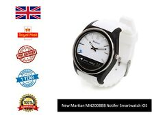 NEW Martian Notifier Smart Watch White android iOS Men's Ladies UK FAST DISPATCH