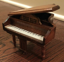 Miniatures Grand Piano Mahogany 1:12 Scale Doll House Furniture Working Lid