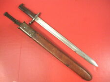 WWI AEF US ARMY M1905 Bayonet Marked SA 1906 w/M1905 2nd Pat Leather Scabbard #3