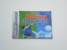 TOTAL SOCCER MANAGER manual only Nintendo Game Boy Advance GBA ENGLISH