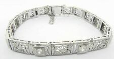 LADIES PLATINUM ART DECO DIAMOND FILIGREE BRACELET