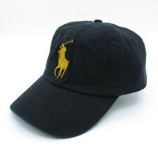 Big Pony Black Polo Hat Baseball Cap Golden Logo Sport Sunhat 032