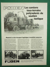 8/1979 PUB FODEN VEHICULES CAMIONS MILITAIRES MILITARY TRUCKS ORIGINAL FRENCH AD