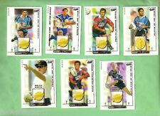 2002 RUGBY LEAGUE CARD SET, 2001 DALLY M WINNERS - DM1  to DM7