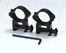 "2 rifle scope high mounts. Fit 1"" / 25mm diameter rifle tube, 20mm dovetail rail"